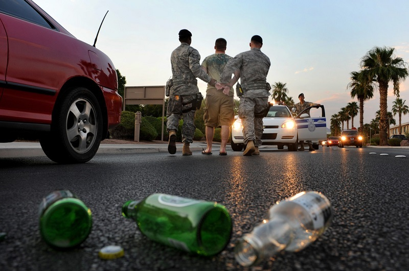 Thumb drinking and driving accidents