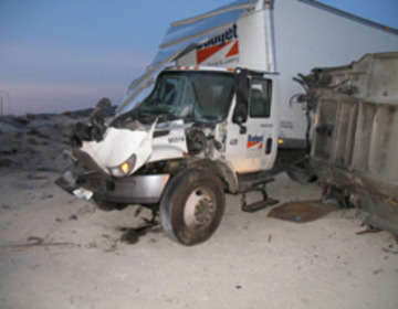 Thumb rental truck accident