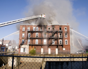 Thumb apartment fire accident