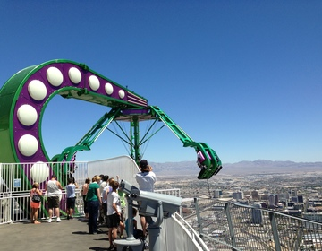 Thumb stratosphere amusement park ride